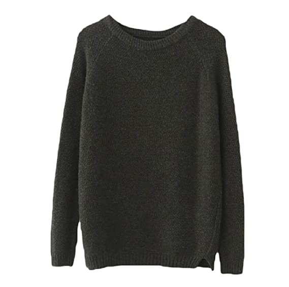 Xiaoshop Womens Cable Knit Casual Solid Colored Long Sleeve Cheap