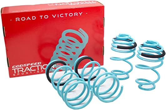 Reduce Body Roll Godspeed LS-TS-NN-0002-A Traction-S Performance Lowering Springs Set of 4 Improved Handling