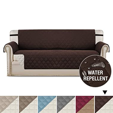 Reversible Sofa Covers Sofa Slipcover Couch Cover, Couch Covers for 3 Cushion Couch, 2  Elastic Straps Couch Cover, Sofa Covers for Living Room, Couch Covers for Dogs (Sofa - Brown/Beige)