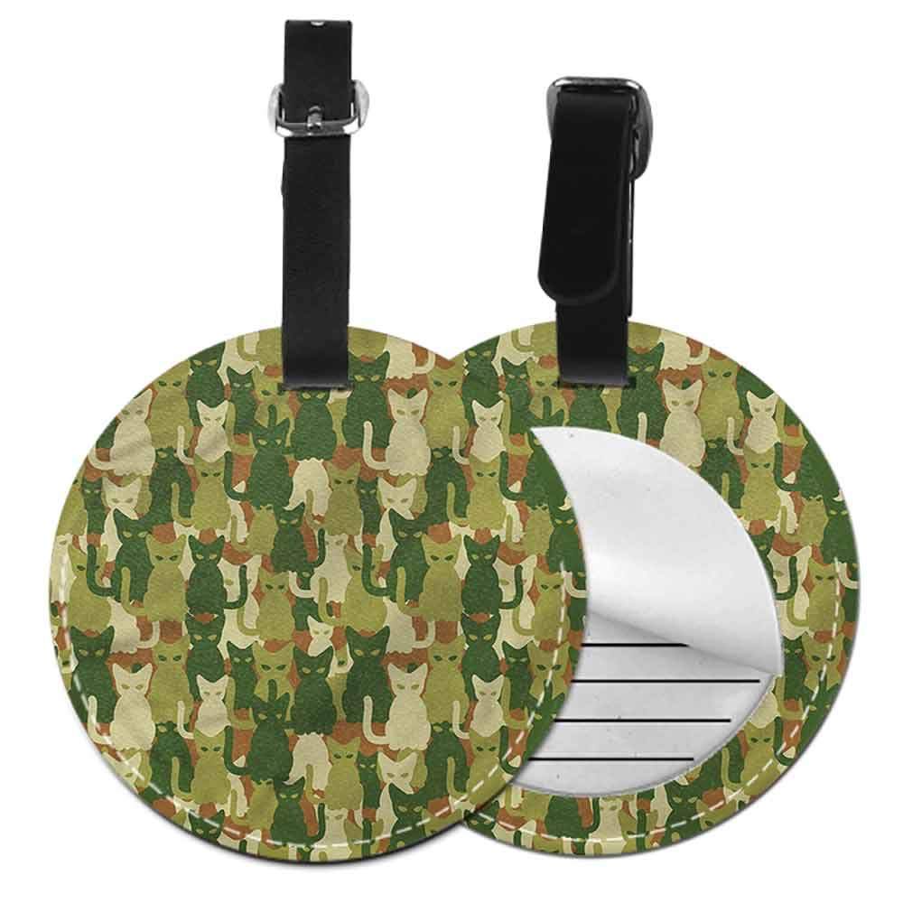 Id Tag Suitcase Carry Camo,Grunge Graphic Camouflage Bag Pendant