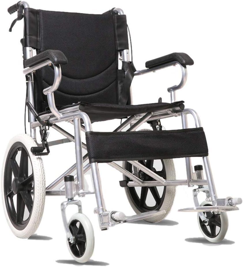 ローラー椅子モバイル折りたたみ超軽量高齢無効エアーカーガイド(ブラック),黒