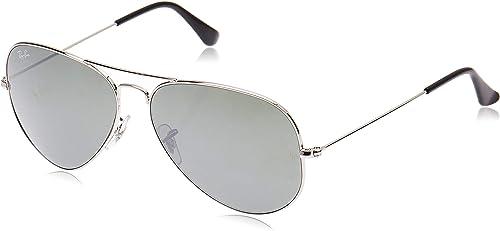 Ray Ban Aviator Sunglasses Silver Frame