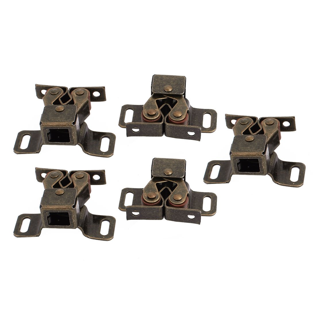 uxcell Cabinet Wardrobe Door Single Ball Roller Latch Catches Copper Tone 5pcs