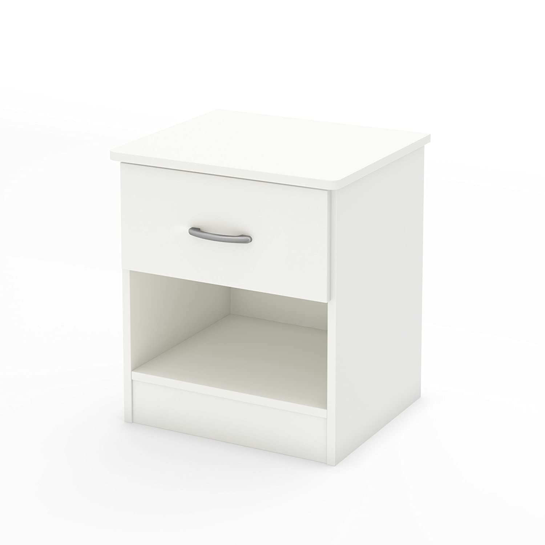 South Shore Furniture 3050061 Libra 1-Drawer Nightstand, Pure White