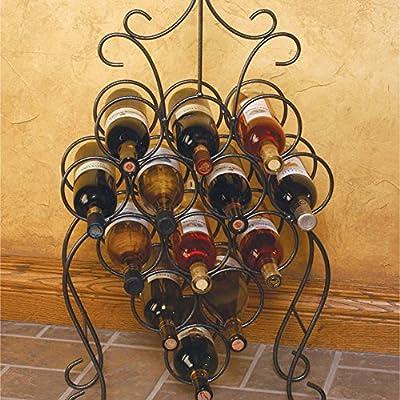 J&J Wire Wine Rack, Dark Pewter