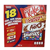 Nestle Chocolate Bars! 7 Kit Kat, 6 Coffee Crisp, 3 Aero, 2 Smarties 18 Full size bars