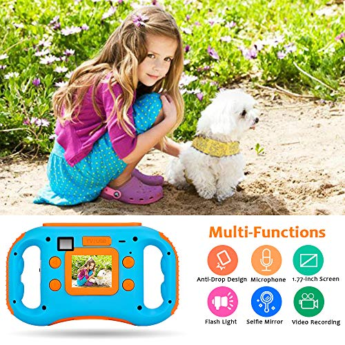 iBosi Cheng WiFi Kids Camera, 1080P HD Digital Anti-Drop Children Camera Camcorders with 1.77 Inch LCD Display,5X Digital Zoom,Flash and Mic, 16GB TF Card Included,Creative Birthday Gifts for Kids by iBosi Cheng (Image #2)