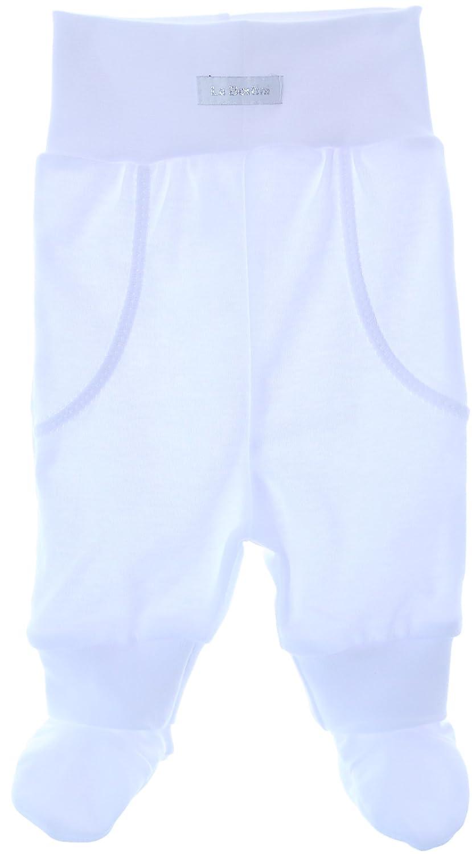 c8ed2ee8cd La Bortini Baby Hose mit Füßchen Schlupfhose Weiß Baumwolle Gr.50 bis 92:  Amazon.de: Bekleidung