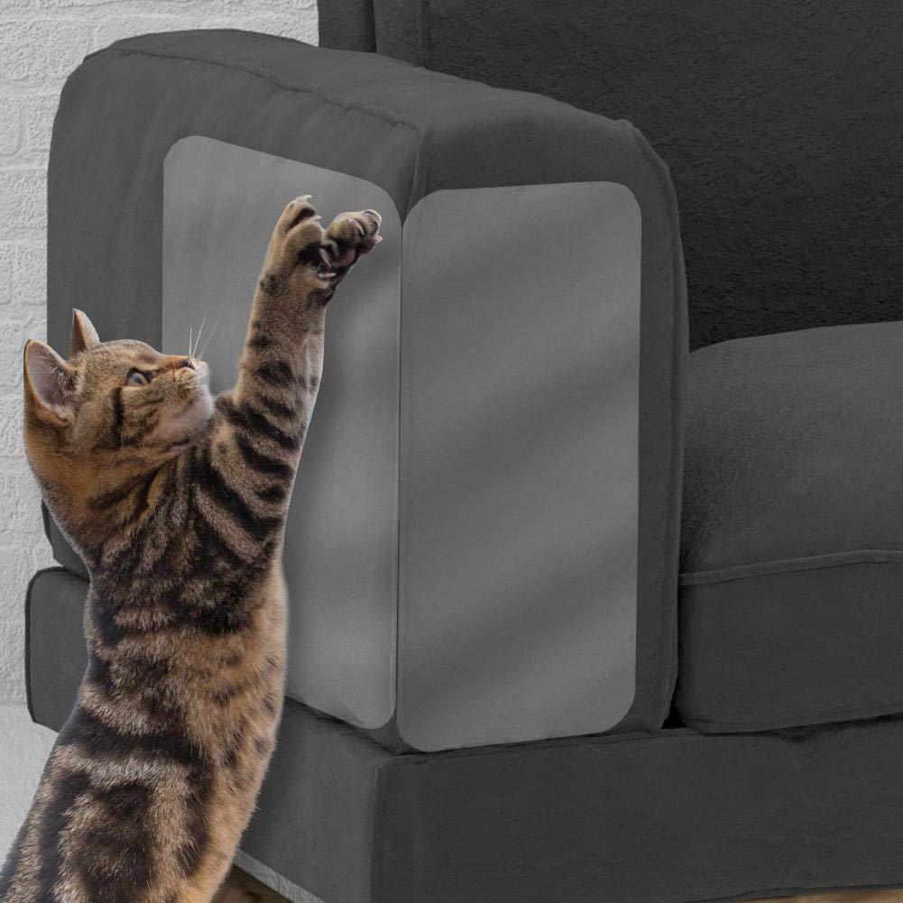 L 4 Unids/Set Cat Funda de sofá de plástico (Juego de 2), Gato rasguña la Cinta disuasoria, Resistente Vinilo Grueso Anti-Cat rasguño Cubierta de Muebles: ...