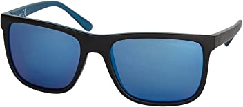 """SIX MAN """"Sommer Herren Sonnenbrille, verspiegelte Gläser, matt, UV-Schutz, blau, schwarz (430-658)"""