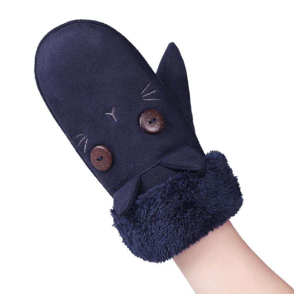 Muium Toddler Infant Baby Boys Girls Winter Full Finger Gloves For 1-6 Years
