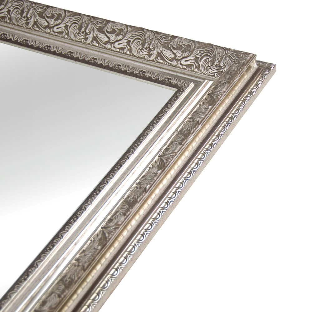 Hans&Alice Large Silver Vanity Wall-Mounted Mirror, 37.5''X25.5''. Luxury for Bathroom, Living Room, Bed Room. Hooks and Rope Included by Hans&Alice (Image #7)