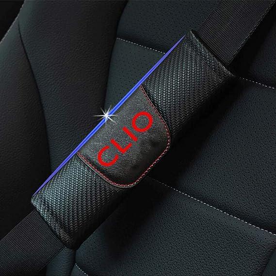 para Renault Clio Protecci/ón Hombros Confort Acolchado Protector Clip NA 2pcs Coche Cubierta del Cintur/ón de Seguridad Hombro Almohadillas Accesorios de Interior Car