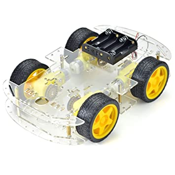 4-wheel Robot Smart Car Chassis Kits car with Speed Encoder for ...