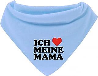 Mikalino Baby Halstuch Bandana Ich liebe meine Mama mit Klettverschluss