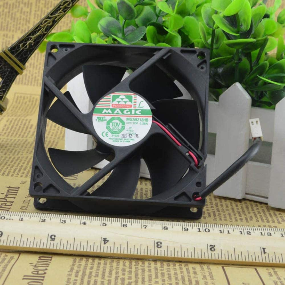 for Magic Permanent 9025 Double Ball Cooling Fan 12v0.25amaga 9212hb9cm Fan 2 Wire