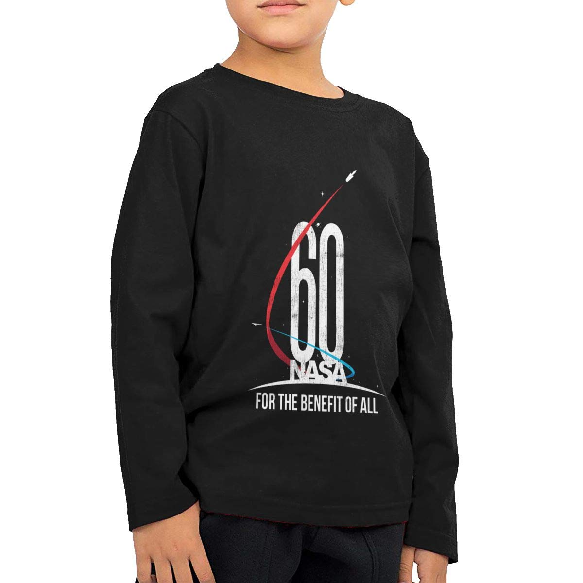 NASA 60th Anniversary for The Benefit of All Childrens Long Sleeve T-Shirt Boys Cotton Tee Tops