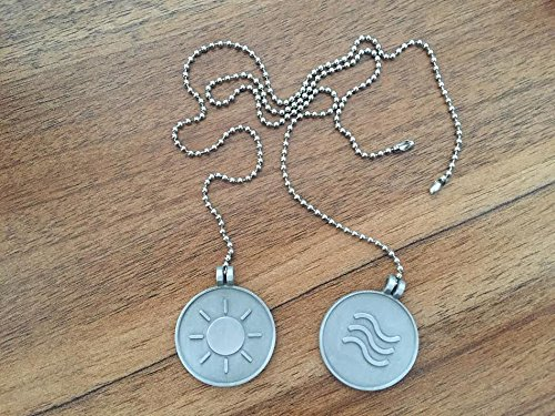 Ceiling Fan Pull Chain Set - Includes 1 Light and 1 Fan, 3 cm Coin Set - Each Include Ceiling ...
