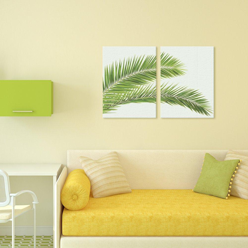 Amazon.com: Funlife Nordic Art Tropical Plant Leaves Minimalism ...
