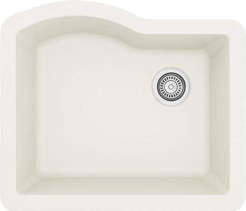 Karran Undermount Quartz Composite 24 in. Single Bowl Kitchen Sink in White