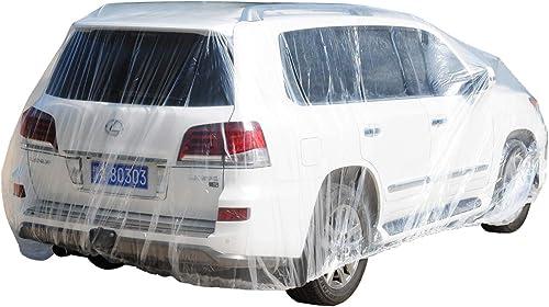 TopSoon Transparent Plastic Car Cover