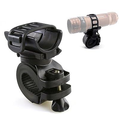 Switty 360° Bike lampe de poche support de vélo Support de fixation pour lampe torche LED Lampe torche Clip Clamp d'équitation Vélo
