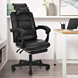 MORECON High-Back Executive Office Chair, Adjustable Ergonomic Swivel Computer Desk Chair with Flip-up Armrest,Back Support, Gaming Chair with Footrest for Working, Studying