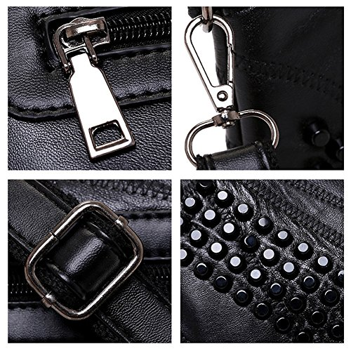 Cross Women body Gothic Rivet Bag Flower Bag JUMENG Clutch Rivet Skull Leather Small EaqdHwH