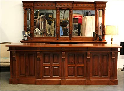 10' Mahogany Victorian Front & Back Bar Furniture Antique Replica Sale Home  ... - Amazon.com: 10' Mahogany Victorian Front & Back Bar Furniture