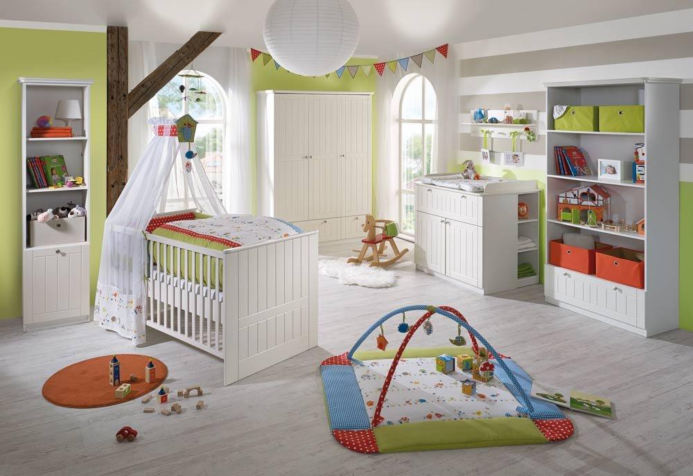 Babyzimmer 3-tlg. im Landhausstil in Weiß , Kleiderschrank B ...