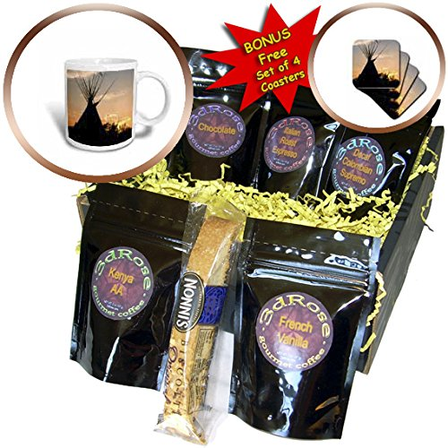 Danita Delimont - Travel - Blackfeet tepees made from canvas, Montana - Coffee Gift Baskets - Coffee Gift Basket (cgb_231055_1)
