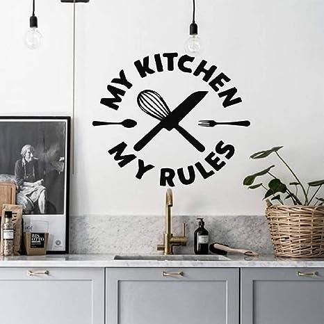 Meine Küche Meine Regeln Wandtattoo Küche Wandaufkleber ...