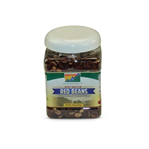Mother Earth Products Dehydrated Fast Cooking Red Beans, quart Jar