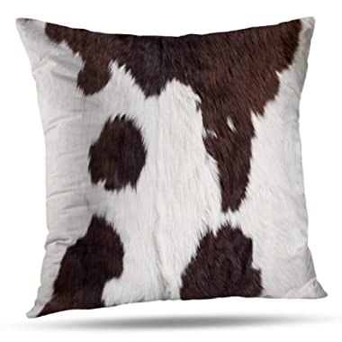 Pakaku Decorative Pillows Case Throw Pillows Covers for Couch/Bed 20 x 20 inch,Cow Skin Cow Skin Abstract Africa Animal Black Home Sofa Cushion Cover Pillowcase Gift Bed Car Living Home