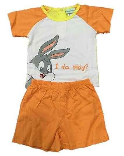 Pijama Niño prima Infancia Bunny Looney Tunes * 13569 arancio 12 meses
