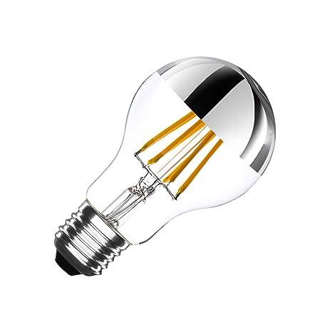 Bombilla LED E27 Regulable Filamento Chrome Reflect Classic A60 6W efectoLED