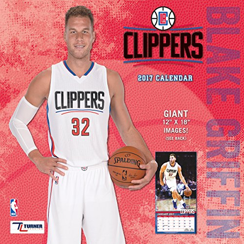 "Turner Licensing Sport 2017 Los Angeles Clippers Blake Griffin Player Wall Calendar, 12""X12"" (17998011995)"