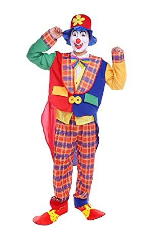 Niseng Karnevalskostume Halloween Clown Kostum Faschingskostume