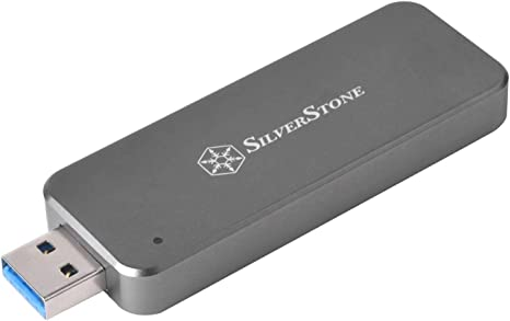 Silverstone SST-MS09C-MINI - Carcasa Externa para SSD SATA M.2, USB 3.1 Gen 2, acepta SSD SATA M.2 2242, Gris Marengo: Amazon.es: Informática