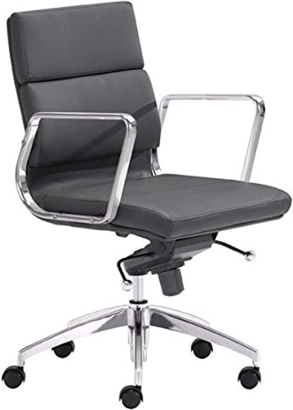 Amazon.com: Zuo Modern Engineer Low Back Office Chair, Black
