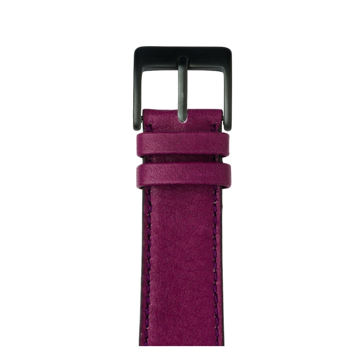 Roobaya | Premium Sauvage Leather Apple Watch Band in Purple | Includes Adapters matching the Color of the Apple Watch, Case Color:Space Gray Aluminum, Size:38 mm