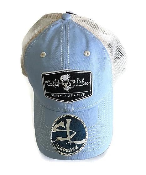 523050983 Amazon.com : Salt Life The Trifecta Hat Cap (SKY BLUE, One Size ...