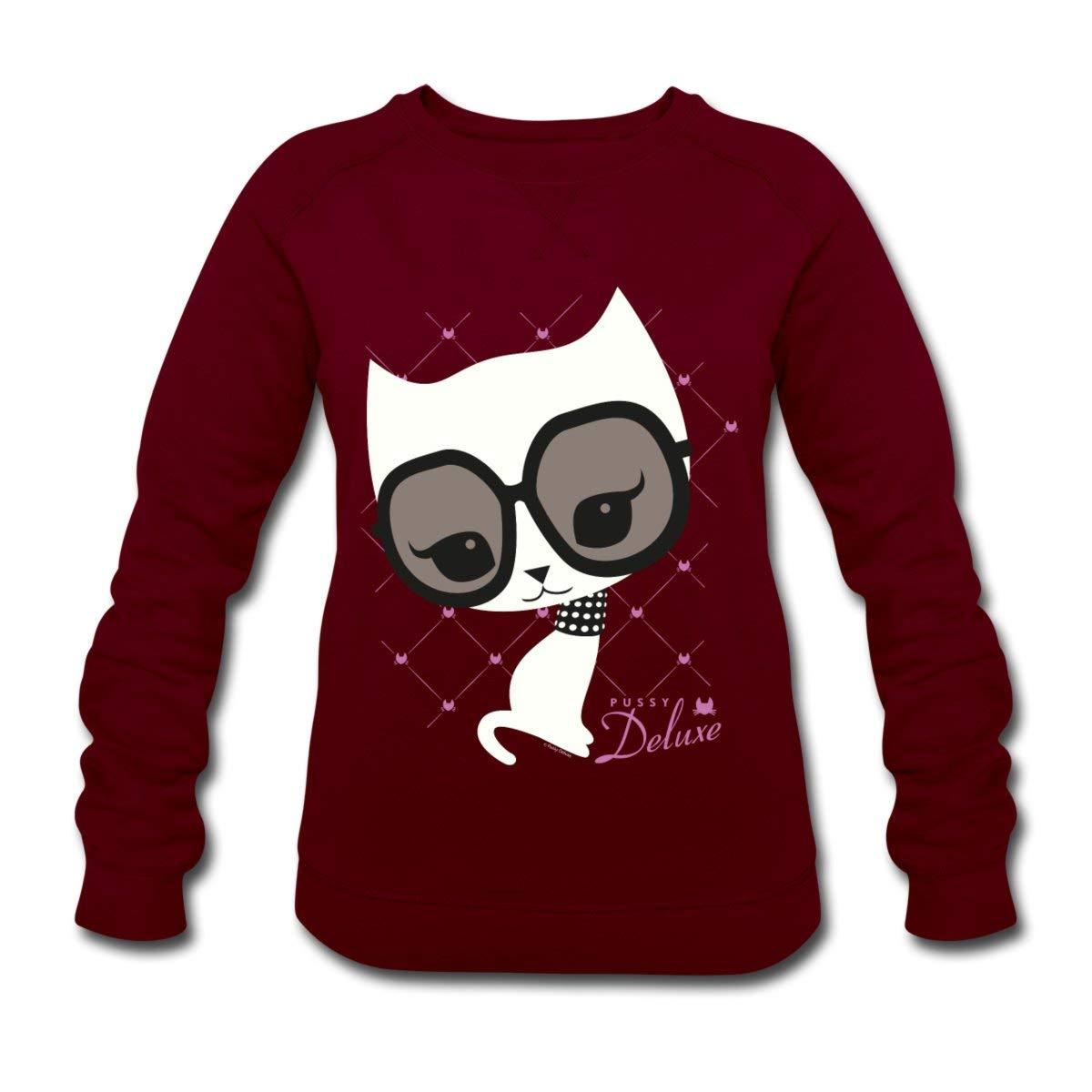 Pussy Deluxe Katze mit Pfauenfedern Frauen Hoodie von Spreadshirt®
