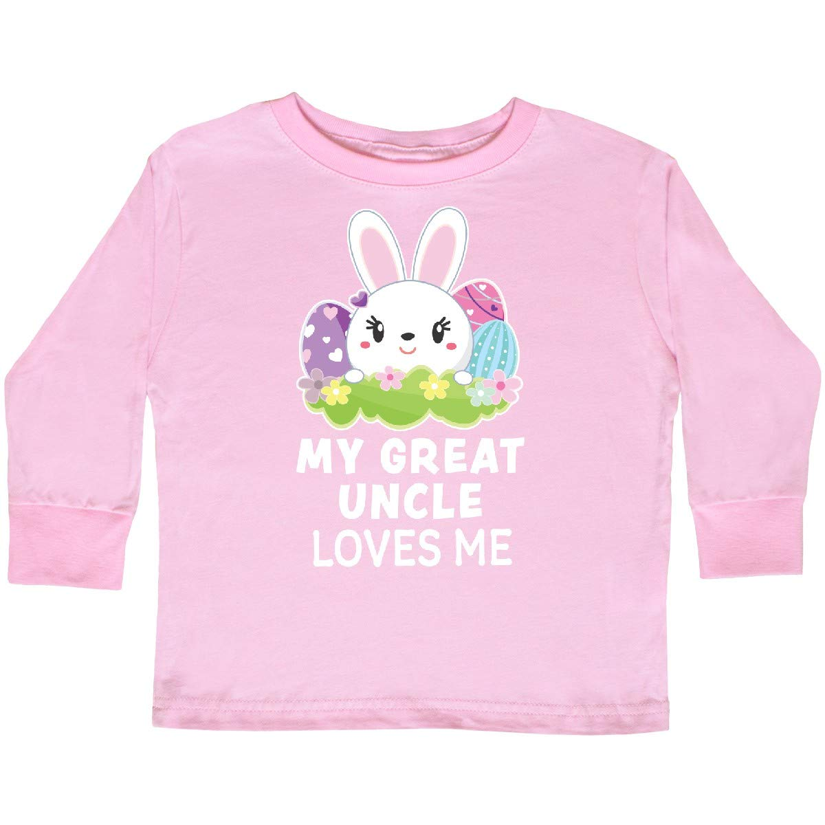 inktastic My Great Uncle Loves Me with Bunny and Toddler Long Sleeve T-Shirt