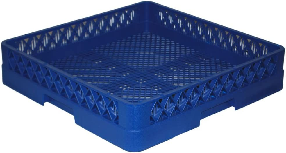 "Traex TR2-44 Blue 19-3/4""SQ x 4""H Flatware Rack"