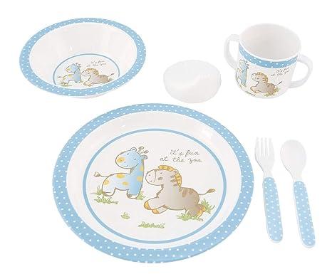 Bieco 04000268 - Vajilla infantil (melamina, 5 piezas ...