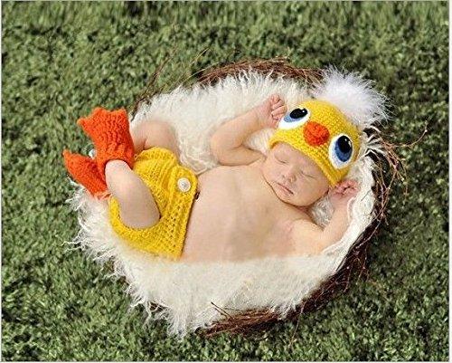 Kinder Baby Strick Mütze Küken Fotoshooting Neugeborene Muster ...