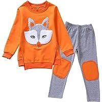 amropi Niñas Conjunto de Sudadera y Leggings Pantalones Animal Print Manga Larga Juego de Ropa para 2-13 años