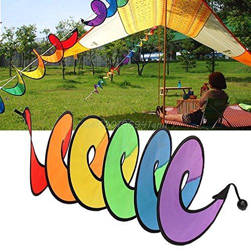 Best Garden Tools Foldable Rainbow Spiral Windmill Wind Spinner Camping Tent Home Garden Decor Hot#T025#