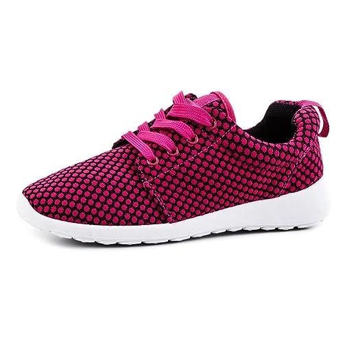 Moda Unisex Mujer unidad Zapatos Cordones Zapatillas Sport Fitness Zapatillas, color Rosa, talla 41 UE: Amazon.es: Zapatos y complementos